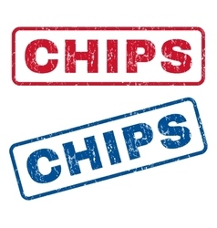 Chips Rubber Stamps vector image