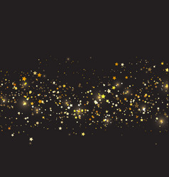 Christmas background with gold stars design vector