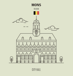 City hall in mons vector