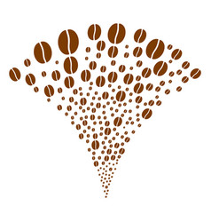 Coffee bean fountain stream vector