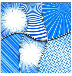 Comic light monochrome concept vector