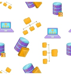 Computer setup pattern cartoon style vector