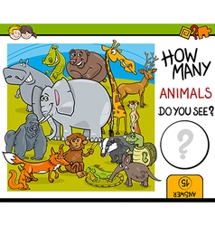 Counting animals educational task vector