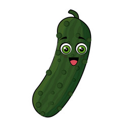 cucumber vegetables comic character vector image