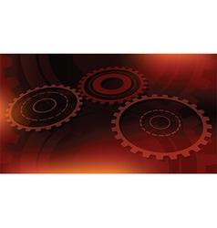dark orange technical vector image