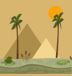 Egypt landscape pyramid vector