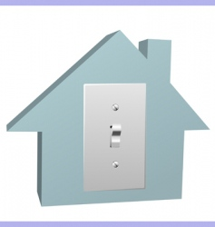 electricity house vector image