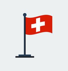 Flag of switzerlandflag stand vector