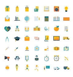 Flat icons big set travel marketing hipster vector image