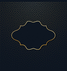 Frame on a dark background with gold polka dots vector
