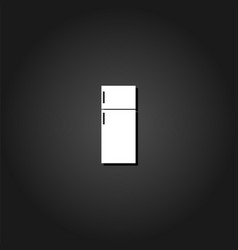 fridge icon flat vector image
