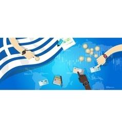 Greece economy financial economic euro monetary vector