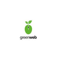green web logo design concept vector image