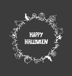 halloween hand drawn invitation or greeting cards vector image
