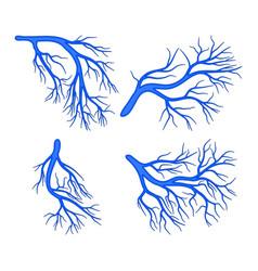 Human vessel blue set symbol icon design vector
