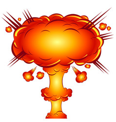 In style a comic explosion atomic bomb vector