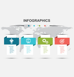 Infographic design template with modern banners vector