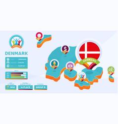 Isometric map denmark country football 2020 vector