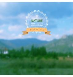 Landscape blurred photo background vector image