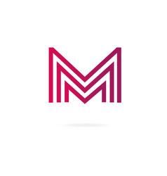 letters m logo design template elements vector image