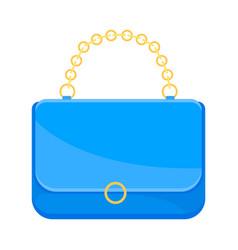 Light blue handbag on a white vector