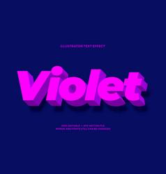 Light violet purple 3d effect style design vector