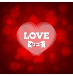 Love heart design background vector