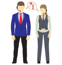 Male and female with headsets Call center Icons vector image