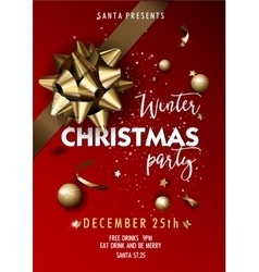 Merry Christmas party layout poster template vector