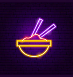 mexican food neon sign vector image