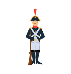 Military france soldier character weapon armor man vector