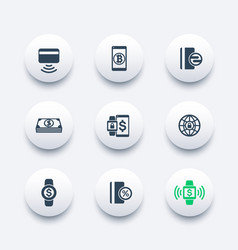 Modern payment methods icons vector