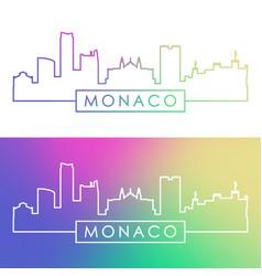 Monaco skyline colorful linear style editable vector