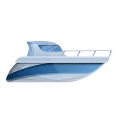 Motor boat icon cartoon style vector