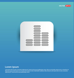 music sound wave icon - blue sticker button vector image