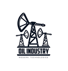 Oil derrick pump flat icon pictogram vector
