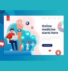 online medicine web page vector image