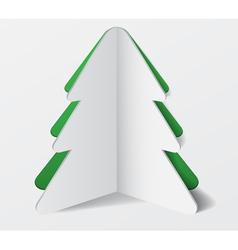 Paper Cardboard Christmas Tree Banner vector