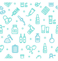 Pills related medical pattern background vector
