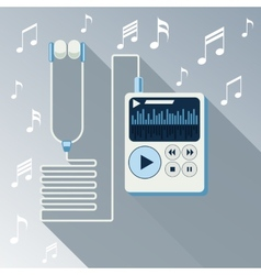 Playing music in Mp3 player vector image