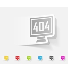 realistic design element 404 error program vector image