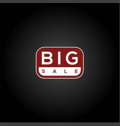 red big sale logo discount sale promo sticker lab vector image