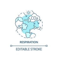 respiration concept icon vector image