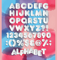 retro looking 3d alphabet vintage red vector image