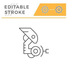 robotic arm line icon vector image