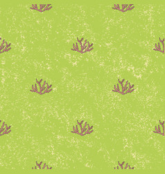 Seamless pattern aquatic plant background vector