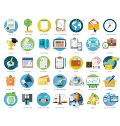 Set business icons vector