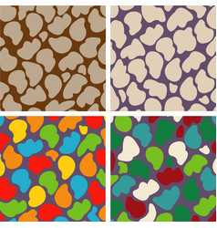 set of four seamless patterns of stones vector image