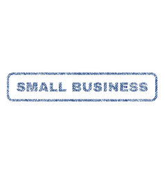 Small business textile stamp vector