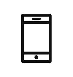 Smartphone icon in modern design style for web vector